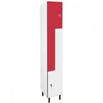 Vestiaire forme L hauteur 1800 mm - Devis sur Techni-Contact.com - 1