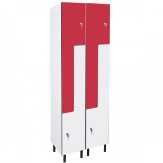 Vestiaire forme L hauteur 1800 mm - Devis sur Techni-Contact.com - 2
