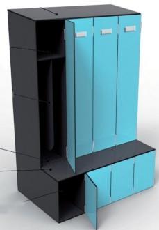 Vestiaire industrie modulable - Devis sur Techni-Contact.com - 1