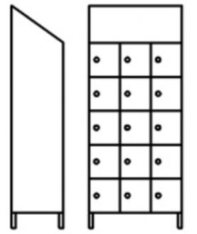 Vestiaire multicases 15 portes inox - Devis sur Techni-Contact.com - 1