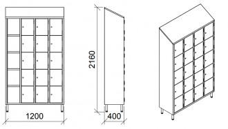 Vestiaire multicases 20 portes inox - Devis sur Techni-Contact.com - 5