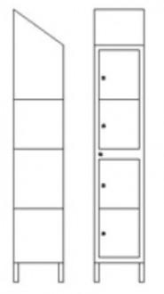 Vestiaire multicases 4 portes - Devis sur Techni-Contact.com - 2