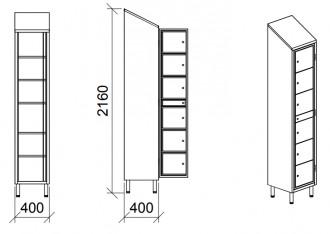 Vestiaire multicases 8 portes - Devis sur Techni-Contact.com - 4