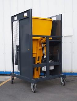 Videur retourneur de poubelle chantier 400 litres VDC130° - Devis sur Techni-Contact.com - 2