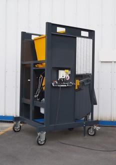 Videur retourneur de poubelle chantier 400 litres VDC130° - Devis sur Techni-Contact.com - 3