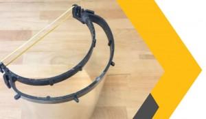 Visière de protection faciale en plaxtil recyclable - Devis sur Techni-Contact.com - 1