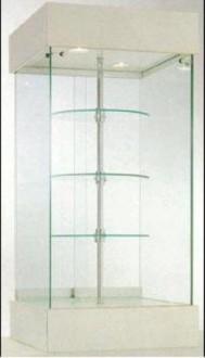 Vitrine avec 3 étagères tournantes - Devis sur Techni-Contact.com - 1