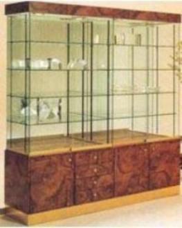 Vitrine avec 4 étagères en verre sur crémaillère - Devis sur Techni-Contact.com - 1