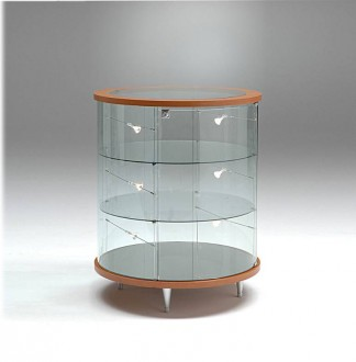 Vitrine basse cylindrique - Devis sur Techni-Contact.com - 1