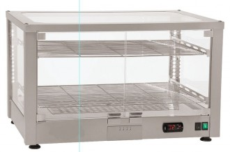 Vitrine chauffante ventilée inox - Devis sur Techni-Contact.com - 1