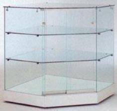 Vitrine comptoir avec 2 étagères en verre - Devis sur Techni-Contact.com - 1