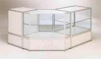 Vitrine comptoir d'angle en aluminium - Devis sur Techni-Contact.com - 1