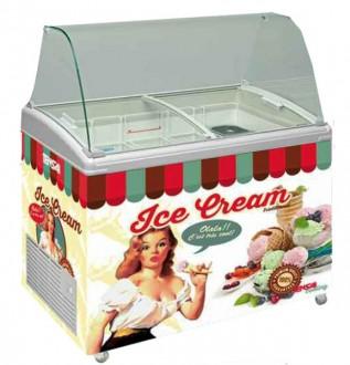 Vitrine conservateur à crèmes glacées 300 - 500 litres - Devis sur Techni-Contact.com - 2