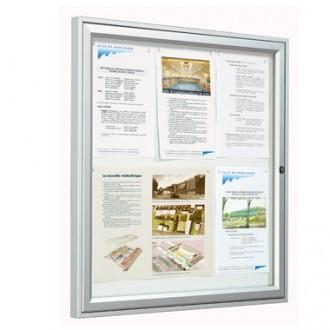 Vitrine d'affichage extérieur simple face aluminium - Devis sur Techni-Contact.com - 1