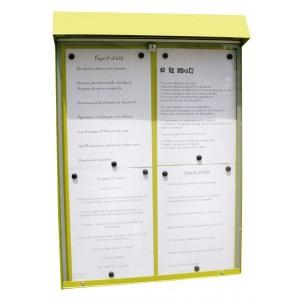 Vitrine d'affichage murale pour menu - Devis sur Techni-Contact.com - 1
