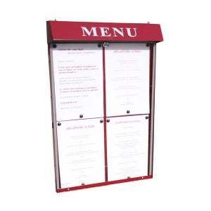 Vitrine d'affichage murale pour menu - Devis sur Techni-Contact.com - 2
