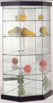 Vitrine d'angle avec 4 étagères en verre - Devis sur Techni-Contact.com - 1