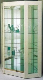 Vitrine d'angle avec 5 étagères en verre - Devis sur Techni-Contact.com - 1