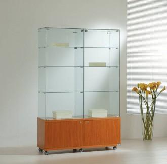 Vitrine d'angle haut avec bois à 2 tiroirs - Devis sur Techni-Contact.com - 1
