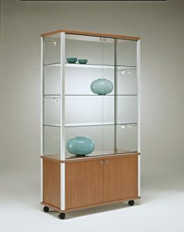 Vitrine d'exposition classique en bois Largeur 99 cm - Devis sur Techni-Contact.com - 1
