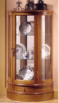Vitrine d'exposition demi-lune en bois - Devis sur Techni-Contact.com - 1