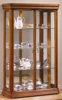 Vitrine d'exposition en bois hauteur 150 cm - Devis sur Techni-Contact.com - 1