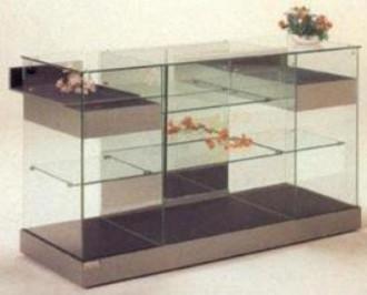 Vitrine d'exposition en verre à portes coulissantes - Devis sur Techni-Contact.com - 1