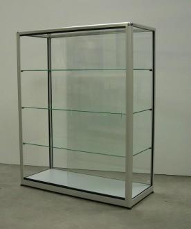 Vitrine d'exposition en verre et aluminium à porte battante - Devis sur Techni-Contact.com - 2