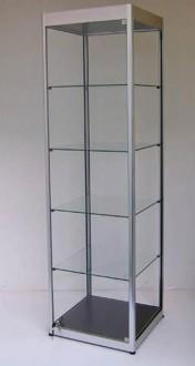Vitrine d'exposition en verre et aluminium à porte battante - Devis sur Techni-Contact.com - 3