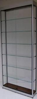 Vitrine d'exposition en verre et aluminium à porte battante - Devis sur Techni-Contact.com - 4