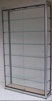 Vitrine d'exposition en verre et aluminium à porte battante - Devis sur Techni-Contact.com - 5