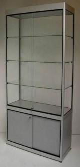 Vitrine d'exposition en verre et aluminium à porte battante - Devis sur Techni-Contact.com - 6