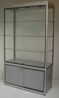 Vitrine d'exposition en verre et aluminium naturel - Devis sur Techni-Contact.com - 1