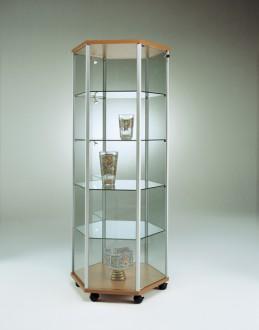 Vitrine d'exposition étroite en verre Hauteur 184,5 cm - Devis sur Techni-Contact.com - 1