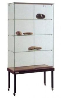 Vitrine d'exposition sur roulettes avec 3 étagères - Devis sur Techni-Contact.com - 1