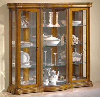 Vitrine d'exposition vaisselle en bois largeur 140 cm - Devis sur Techni-Contact.com - 1
