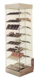 Vitrine d'exposition verre à étagères inclinées - Devis sur Techni-Contact.com - 1