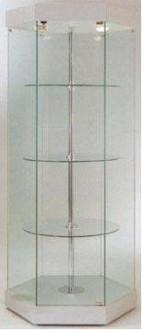 Vitrine en verre hexagonale à 3 étagères - Devis sur Techni-Contact.com - 1