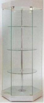 Vitrine en verre tournante hexagonale - Devis sur Techni-Contact.com - 1