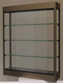 Vitrine murale en aluminium et verre trempé - Devis sur Techni-Contact.com - 1
