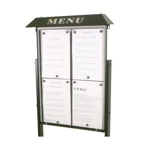 Vitrine porte menu grand format - Devis sur Techni-Contact.com - 1