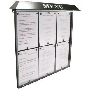 Vitrine porte menu grand format - Devis sur Techni-Contact.com - 2