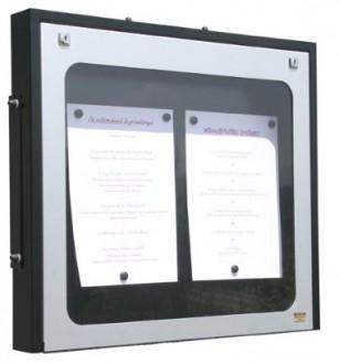 Vitrine porte menu murale aluminium - Devis sur Techni-Contact.com - 1
