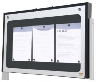 Vitrine porte menu murale aluminium - Devis sur Techni-Contact.com - 2
