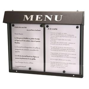 Vitrine porte menu murale d'extérieur - Devis sur Techni-Contact.com - 1
