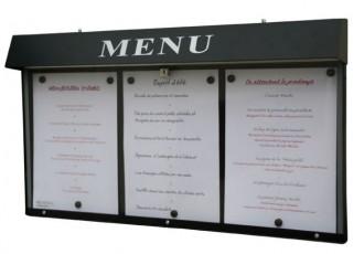 Vitrine porte menu murale pour bistrot - Devis sur Techni-Contact.com - 1