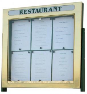 Vitrine porte menu murale simple face - Devis sur Techni-Contact.com - 1