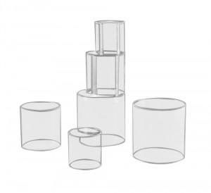 Vitrine tube en plexiglas - Devis sur Techni-Contact.com - 1