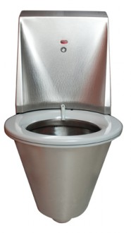 WC automatique hygiénique suspendu inox - Devis sur Techni-Contact.com - 2