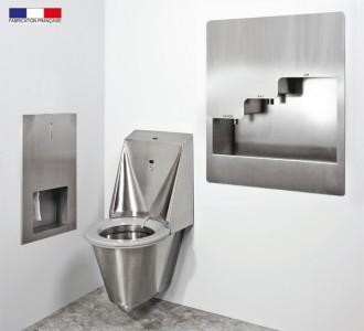 WC automatique hygiénique suspendu inox - Devis sur Techni-Contact.com - 3